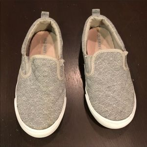 Old Navy Grey Quilted Slip On Shoes Toddler 10
